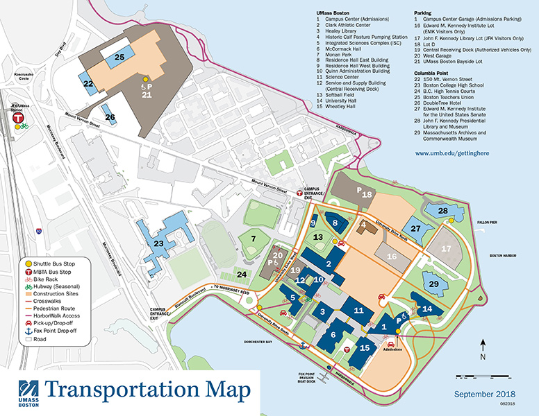 St Johns Campus Map.Maps Directions University Of Massachusetts Boston Acalog Acms